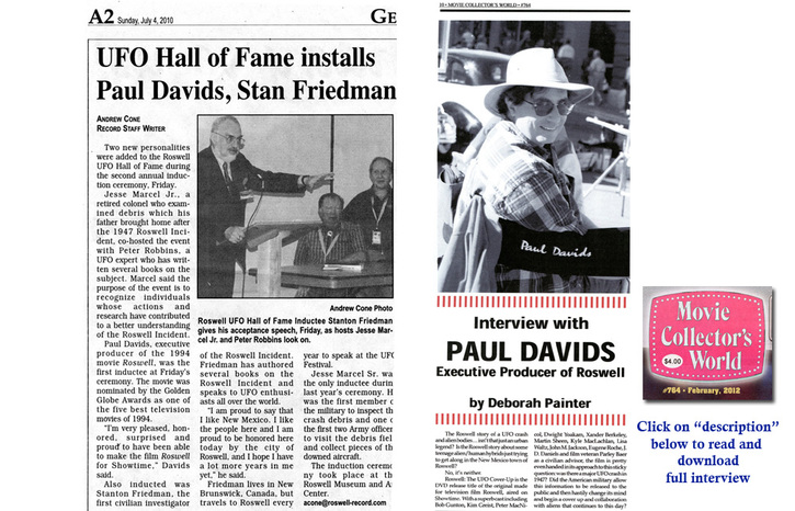 Induction into UFO Hall of Fame and Interview with Paul Davids