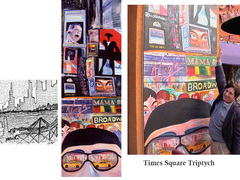 times square - vertical tryptych